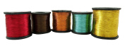 Lot Of 5 Pieces Polyamide Hand Machine Thread Wholesale Embroidery Crafting Spool