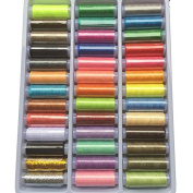 Chenkou Craft 39 Colours 200y/Roll Spools Polyester Sewing Thread For Hand and Machine
