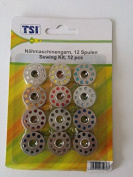 NA-Und 12 Sewing Machine Spools 81036 Metal