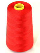 Budget 120's Polyester Sewing Thread Cone 4500m Red - each