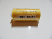 Reel of sewing thread 100% polyester 500 metres provencal yellow