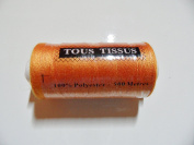 Spool of 100% Polyester Sewing Thread, 500 Metres, Orange