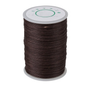 Brown 100 Metre 0.6mm Dia Leather Sewing DIY Handwork Handicraft Round Linen Stitching Waxed Thread Cord