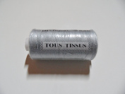 Spool of Sewing Thread 500 Metres 100% Polyester Light Grey