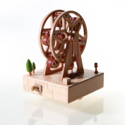 Wooden Music Box Christmas Gifts,Ferris Wheel With Square Base Toy Decoration Birthday Present Christmas Gift for Kids Lover Friends and Children