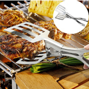 IGEMY Stainless Steel Salad Tong BBQ Kitchen Cooking Food Serving Utensil Tong