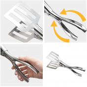Gaddrt BBQ Tongs Kitchen Cooking Barbecue Tongs Stainless Steel Food Tongs Kitchen Serving Tong