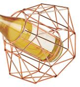 Wild Eye Designs Diamond Wine Bottle Holder, Copper