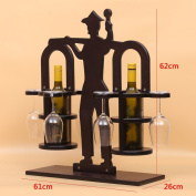 Solid wood wine rack, hanging glass rack, inverted bar counter glass cup holder, wine cup holder