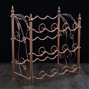 WKAIJC European Creative Personality Home Decoration Ornaments Wine Display Stand Bronze Multi-bottle Iron Wine Rack