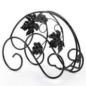WKAIJC European Creative Personality's Decoration Ornaments Wine Display Rack Black Single Bottle Of Iron Wine Rack