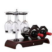WKAIJC European Upside Down Goblet Rack Wine Shelf Solid Wood Wine Rack Home Creative Decoration