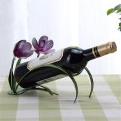 WKAIJC European-style Creative Home Furnishings Decoration Wine Showcase Chunlan Iron Wine Racks