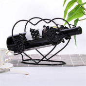 WKAIJC European Creative Personality Home Decoration Ornaments Wine Display Rack Black Single Bottle Of Iron Wine Rack