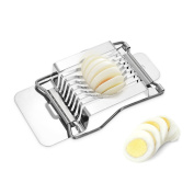 Decdeal Kitchen Stainless Steel Egg Slicer for Salads Sandwiches