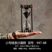 XZX Home European Style Retro Loft Metal Hourglass Timer Living Room Office Decoration , small chains, hourglass