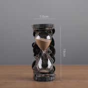 XZX Home Resin Sand Hourglass Timer Decoration 5/10 Minutes , tooth large w947-1a