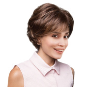 MagiDeal 25cm Fashion Women Synthetic Natural Side Bangs Straight Short Curly Hair Wigs