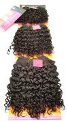 100% Human Hair Jerry Curl, Super Weave. Short 3 Piece Set. Colour 1B, Natural Black. 15cm , 18cm & 20cm length