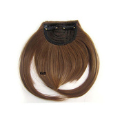 MZP Clip in Synthetic Bang with Full Blonde Colour #6 , chestnut brown