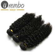 Urembo Gold Pack of 3 100% Brazilian Remy Human Hair Extension Bohemian Hair Kinky Curly Weave Braid Set of 3 Each 95 – 100 g