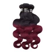 100% Peruvian Virgin Ombre Human Hair Body Wave Hair Weft 1 Bundle Virgin Ombre 2Tone Human Hair Extensions 1b-99j