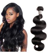 Mila 100g 1 Bundle Brazilian Hair Body Wave Virgin Hair 8A Weaving Hair Extensions Human Hair Weft Natural Black 60cm
