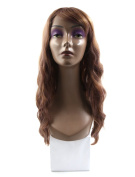 sourcingmap® 80cm Length Synthetic Brazilian Women Long Curly Hair Extension Air Bangs Wig Pink