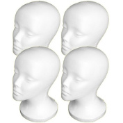 4PCs A1Pacific 11 STYROFOAM FOAM MANNEQUIN MANIKIN head wig display hat glasses by A1Pacific