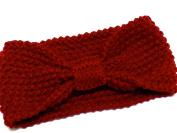 La Peach Fashions Brand New Heavy Knitted knotted Bow Headband Winter Head Warmer Crochet Ear Muff Head Wrap