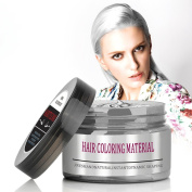 [Upgrade]BMK Silver Grey Hair Colour Wax Matte Hairstyle Pomades Disposable Temporary Modelling Natural Hair Styling Wax hair stereotypes for Daily Party, Cosplay, Nightclub, Masquerad,Chritmas