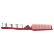 Red Folding Comb Pocket Size Plastic Dual Head Hair Comb Multiuse