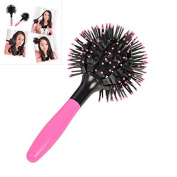 baleba Japan 3D Bomb Curl Hair Brush Ball Styling Spherical Massage Comb Detangling Heat Resistant Hair Comb