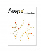 Addttoo Designer Body Art - Party Stars & Amber Crystals