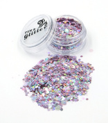 PINK UNICORN Chunky Festival Glitter mix FG09 - 5ml & 10ml Pots - Fully Cosmetic Grade Glitter for Festival Faces, Party Face and Body Make-up, Sparkling Glitter Hair and Nails
