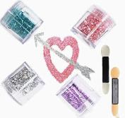 eBuy 4 colour chunky glitter cosmetic glitter festival glitter sparkle face body hair nails make up*beauty