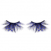 False Eyelashes Colourful Spot Feather False Lashes 1 Pair for Christmas, Costume Party, Stage Makeup by UmayBeauty