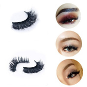 AL'IVER 2 Pairs False Eyelashes 3D Handmade Natural Look Long Thick Fake Eyelash
