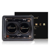 Weicici Double-Colour Black + Brown Eyeliner & Eyebrow Gel Kit With Brush