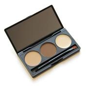 baleba Eyebrow Powder Eye Brow Palette Cosmetic Makeup Shading Kit Brush Mirror