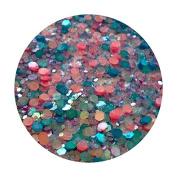 Glitter Pot - ( 548 Mermaid Magic ) Chunky And Fine Mix Festival Glitter Shape Glitter Eyes Eye Shadow Nail Art Face And Body
