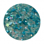 Glitter Pot - ( 539 Ice Blast ) Chunky And Fine Mix Festival Glitter Shape Glitter Eyes Eye Shadow Nail Art Face And Body