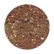 Glitter Pot - ( 537 Love Rose Gold ) Chunky And Fine Mix Festival Glitter Shape Glitter Eyes Eye Shadow Nail Art Face And Body