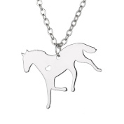 Gold/Silver Animal Horse Necklace Unique Loving Heart Stainless Steel Jewellery for Women and Men Gifts