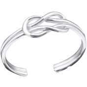 So Chic Jewels - 925 Sterling Silver Knot Toe Ring