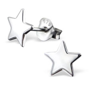 So Chic Jewels - 925 Sterling Silver Star Ear Studs