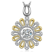 "Dancing Heart ""Daisy"" 925 Sterling Silver Necklace for Women"