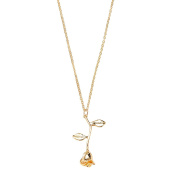 Women's Rose Pendant Necklace Gold Silver Rose Gold Anniversary Jewellery Gift