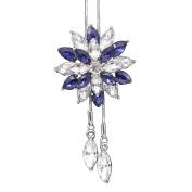 Women Fashion Rhinestone Snowflake Pendant Long Chain Sweater Necklace Gift