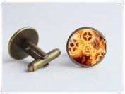 Sci Fi cufflinks Steampunk jewellery Mechanisms Punk cufflinks Gears cufflinks